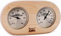 Термо-гигрометр круглый Sawo