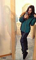"""Женский дутый спортивный костюм с капюшоном  """" Chanel """" Dress Code"""