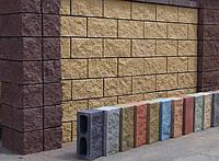 Блок заборный рваный Фундаментальный 400х200х200