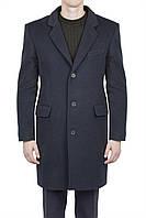 Пальто мужское черное шерстяное
