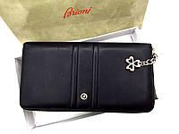 Женский кошелек на молнии в стиле Brioni (3735) кожаный, фото 1