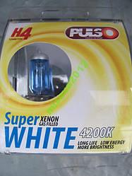 Лампи Н4 Р43 12V 60/55W super white пара