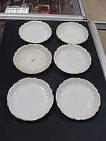 Тарелочки тарелки чайные Кузнецов фарфор 6 шт