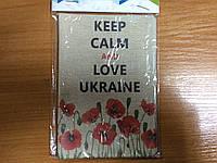 "Обкладинка на паспорт ""Love Ukraine"", ПВХ, фото 1"