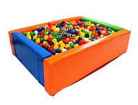 """Сухий басейн """"Прямокутник"""" 2,0 х 1,5 м для шариків"""