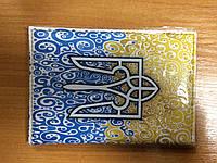 """Обкладинка на паспорт """"Тризуб"""", кожзам, фото 1"""