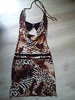 Откровенное тигровое платье 46-48 р