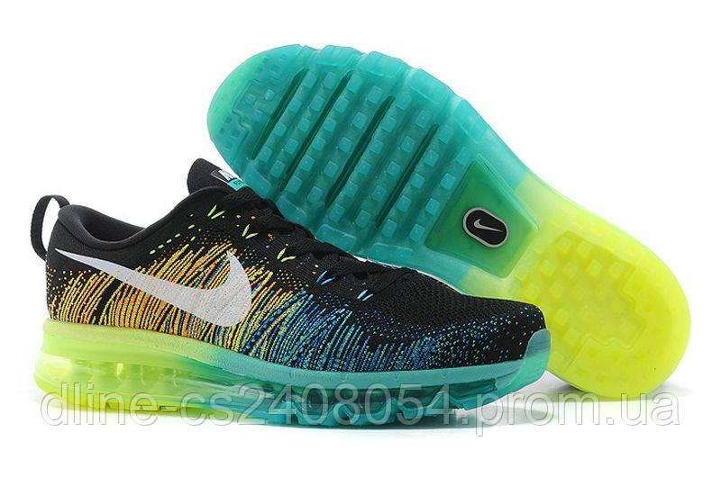Mужские кроссовки Nike Air Max Flyknit Black/Green/Blue