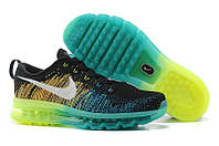 Mужские кроссовки Nike Air Max Flyknit Black/Green/Blue, фото 1
