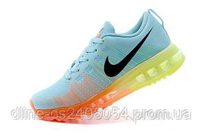 Женские кроссовки Nike Air Max Flyknit Blue/Orange/Yellow