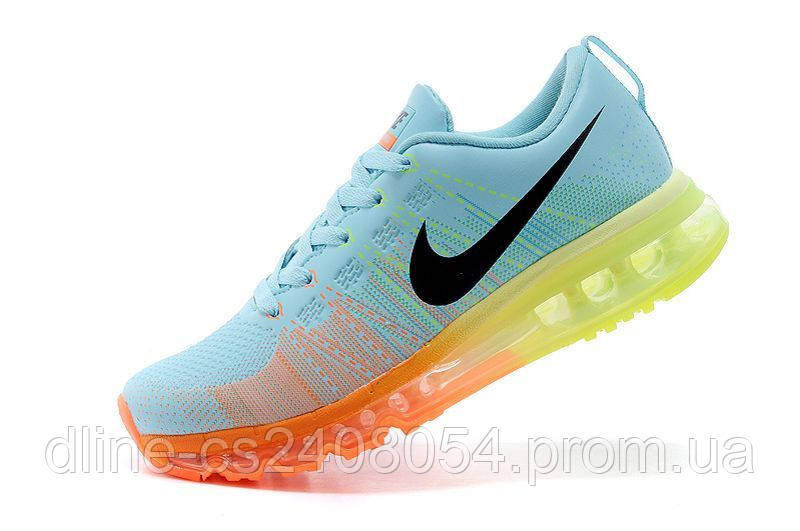 Женские кроссовки Nike Air Max Flyknit Blue/Orange/Yellow