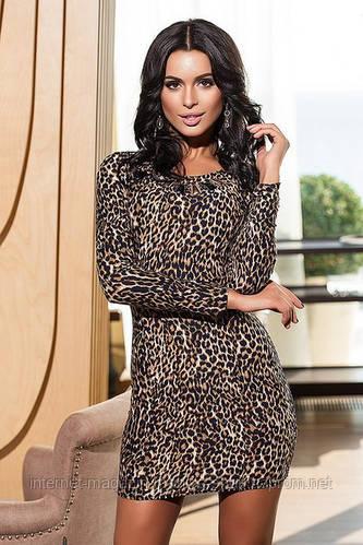 Платье женское леопард