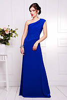 Вечернее женское платье в пол Юна электрик  42-50 размеры