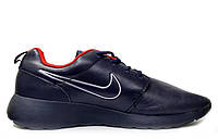 Mужские кроссовки Nike Roshe Run Leather Blue White Red, фото 1