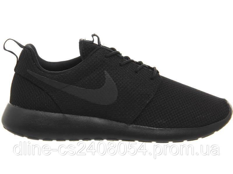 Mужские кроссовки Nike Roshe Run Черные Mono