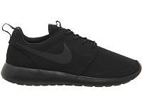 Mужские кроссовки Nike Roshe Run Черные Mono, фото 1