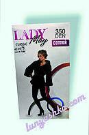 Женские хлопковые колготы LADY May Classic, размер 5\6(56-62) , 350 Ден