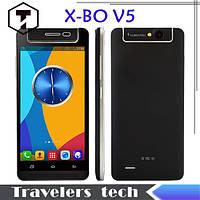 """Сенсорный мобильный телефон X-BO V5 Android 4.4 2SIM 5.0"""" вращающаяся камера, смартфон на 2 sim-карты"""