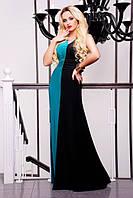 Длинное женское платье в пол Бэлла бирюза 42-50 размеры