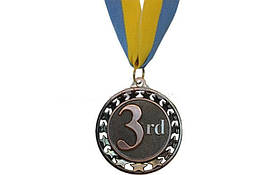 Медаль спорт d-6,5см С-4330-3 бронза STROKE (44g, на ленте)