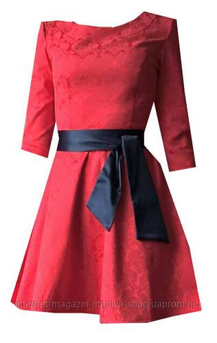 Платье женское с поясом узор