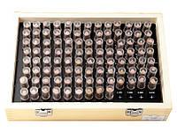 Набор цилиндрических мер, диапазон измерения 1,01-2 мм, кол-во мер в наборе 100 шт.