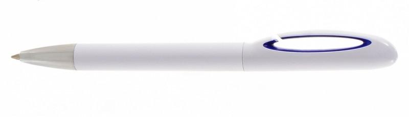 Ручка шариковая пластиковая, Optima Promo Toronto, цвет ручки Бело-синий