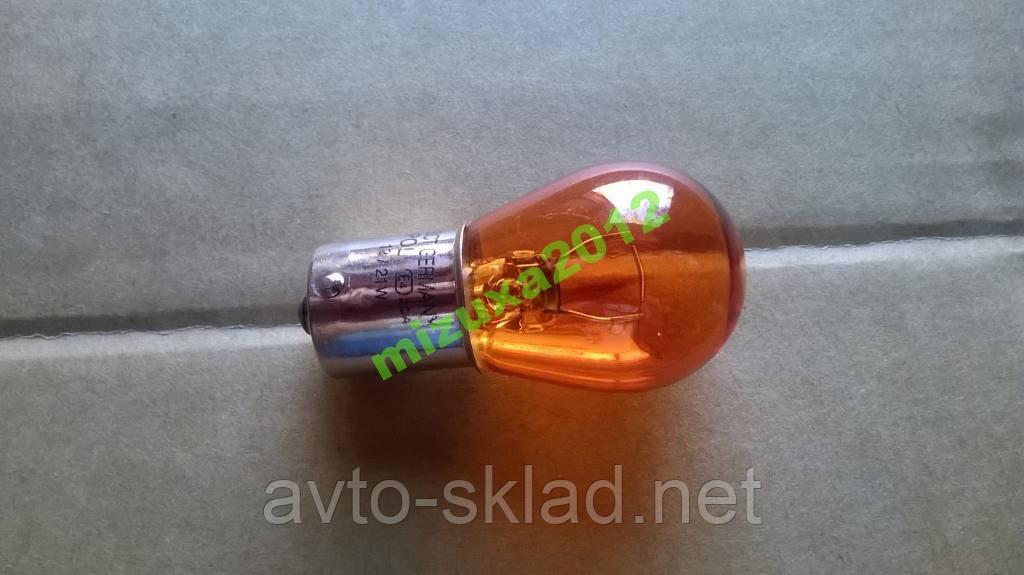 Лампа автомобильная поворотов 12V 21W (оранжевая)
