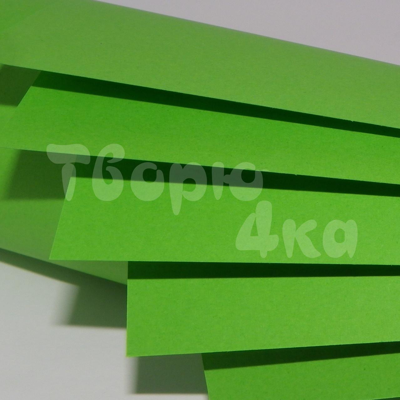 Бумага цветная А4 160 гр/м.кв deep parrot (попугайный зеленый)