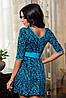 Платье женское с поясом узор, фото 2