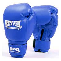 Перчатки боксерские Reyvel винил 6 oz синие