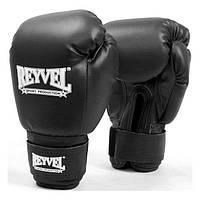 Перчатки боксерские Reyvel винил 6 oz черные