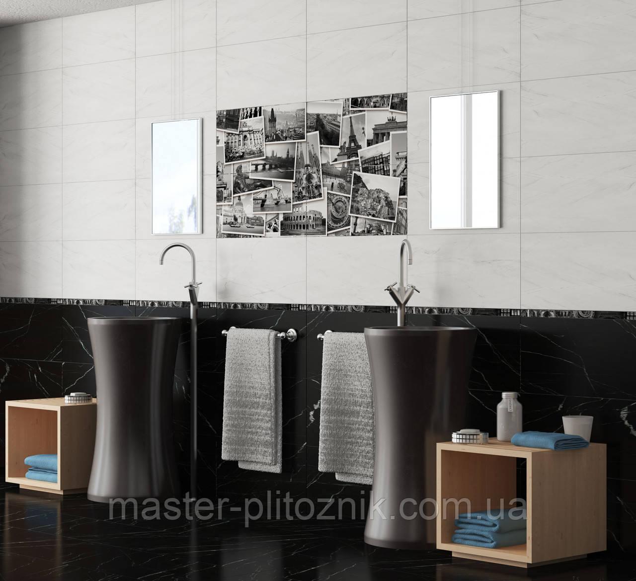 Плитка облицовочная для стен Absolute Collage черно-белый