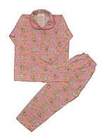 Пижама детская с воротником. для девочек. размеры 9-10-11-12 лет