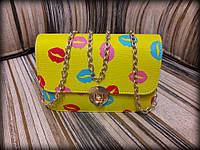 Яркая сумка с губками, черная, желтая, розовая