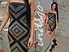 Платье 14035 геометрия (Турция)