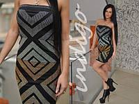 Платье 14035 геометрия (Турция), фото 1