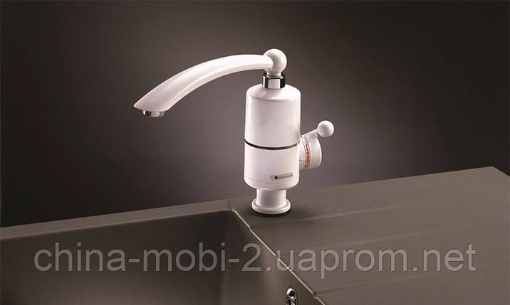 Проточный нагреватель - кран, 3кВт, мини бойлер  WATER HEATER (MP 5275), фото 2