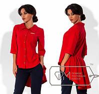 """Модная женская  рубашка """" Хвост-рюш """" Dress Code"""