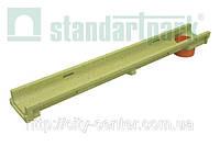 Лоток водоотводный 10.14.13 полимербетонный DN 100 с вертикальным водоотводом
