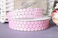 """Кружевная лента (тесьма) """"Мелкоцвет"""" нежно-розового цвета, ширина 2 см"""