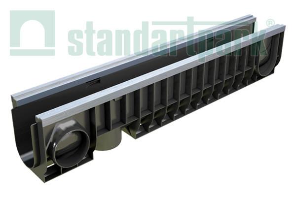 Лоток водоотводный усиленный 10.16.20 пластиковый DN 100