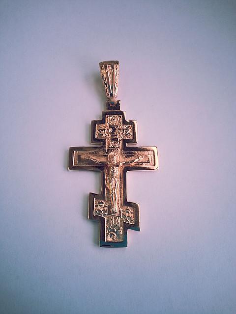 Золотой Большой Крест Арт. Кр 38