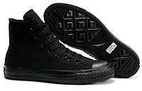 Женские кеды Converse Chuck Taylor All Star (конверс чак тейлор ол стар) высокие черные