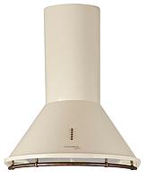 Pyramida BR 60/B ivory rustico (600 мм.) кухонная вытяжка, слоновая кость / рейлинг и кнопки бронза, фото 1