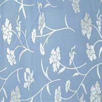 Тик Серебренные цветы на голубом фоне