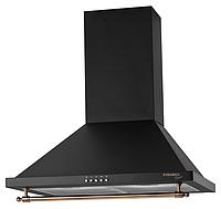 Pyramida KH 60 black rustico (600 мм.) кухонная вытяжка, корпус черная эмаль, рейлинг кнопки бронза, фото 1