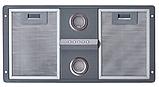 Pyramida HBE 36 (550 мм.) полновтраиваемая кухонная вытяжка, серебристая эмаль, фото 3