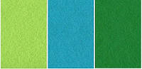 Набор  фетр листовой_голубой, зеленый 2,0 мм