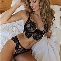Кружевной набор: топ+трусики / Эротическое белье / Сексуальное белье / Еротична сексуальна білизна, фото 1